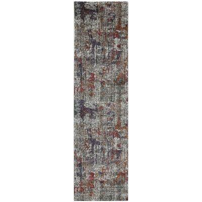 Roman Kajetan Mosaic Modern Runner Rug, 300x80cm, Multi