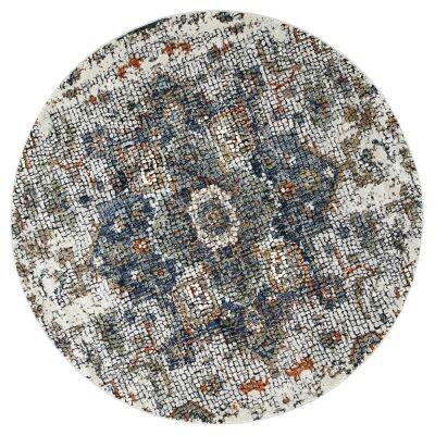 Roman Medallion Mosaic Modern Round Rug, 240cm