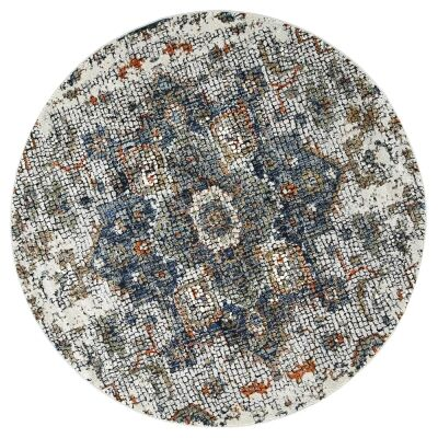 Roman Medallion Mosaic Modern Round Rug, 160cm