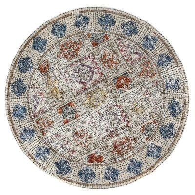 Roman Betram Mosaic Modern Round Rug, 200cm