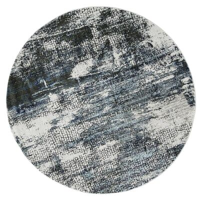 Roman Mosaic Modern Round Rug, 240cm