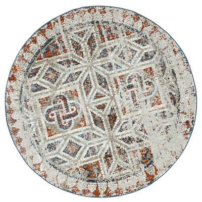 Roman Rossi Mosaic Modern Round Rug, 160cm