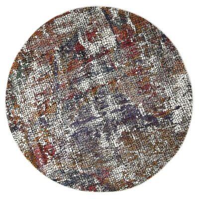 Roman Kajetan Mosaic Modern Round Rug, 200cm, Multi