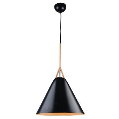 Byron Metal Pendant Light, Large, Black