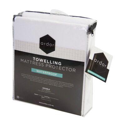 Ardor Waterproof Towelling Cotton Mattress Protector, King Single