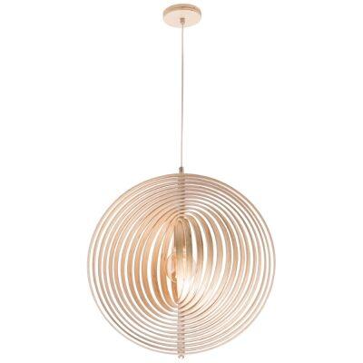 Oasis Wooden Pendant Light, 55cm