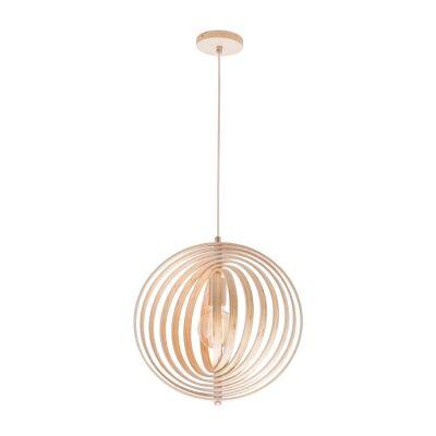 Oasis Wooden Pendant Light, 40cm