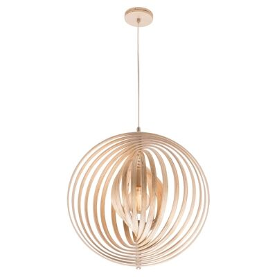 Oasis Wooden Pendant Light, 70cm