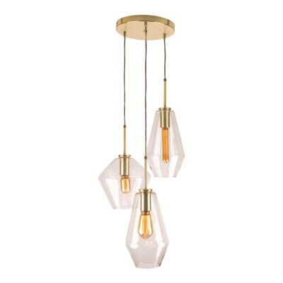 Melba Glass Pendant Light, 3 Light