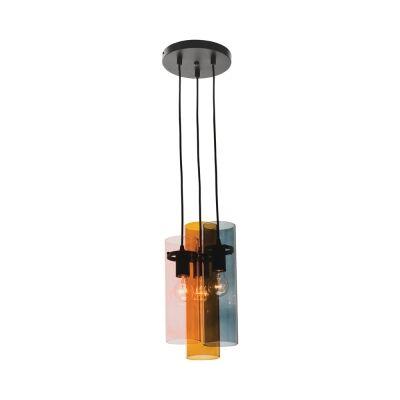 Estelle Glass Cluster Pendant Light, 3 Light