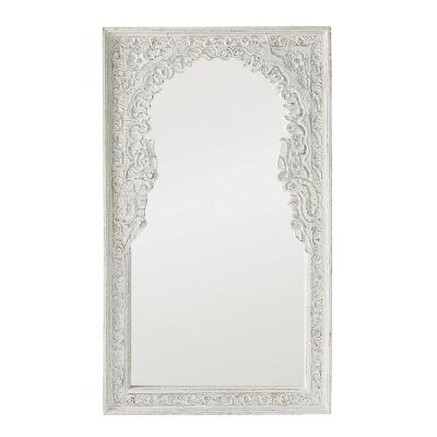Rathi Carved Mango Wood Frame Wall Mirror, 121cm