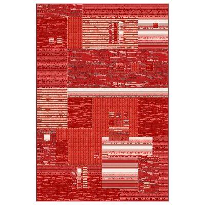 Integra Belgian Made Modern Rug, 225x160cm, Red