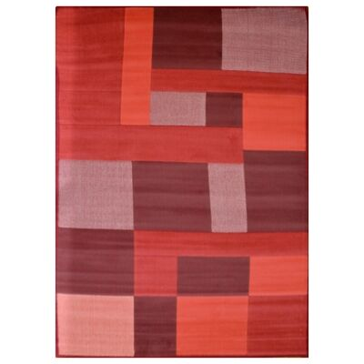 Micra Belgian Made Modern Rug, 290x200cm, Red