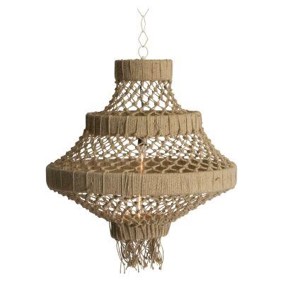 Alta Knotted Jute Pendant Light, Large