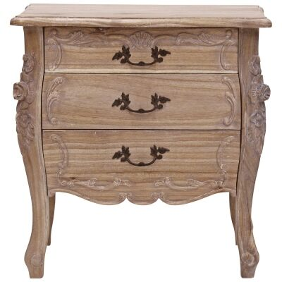 Riom Hand Crafted Mahogany Bedside Table, Weathered Oak