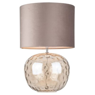 Selena Dimpled Glass Base Table Lamp, Amber