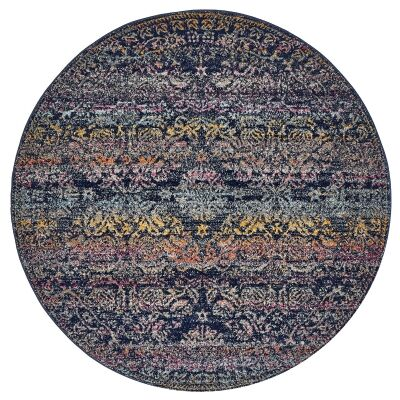 Museum Remi Transitional Round Rug, 200cm
