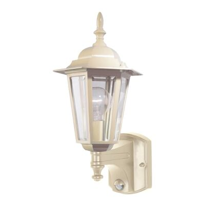 Tilbury IP44 Exterior Wall Lantern with Motion Sensor, Beige