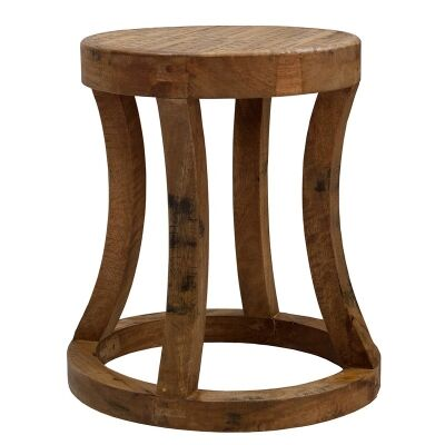 Surveyors Rod Solid Timber Round Stool