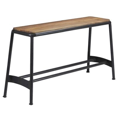 Hunston Metal High Bench with Timber Seat, Charcoal