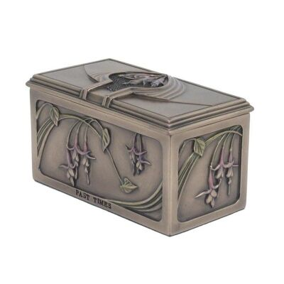 Cast Bronze Floral Jewellery Box
