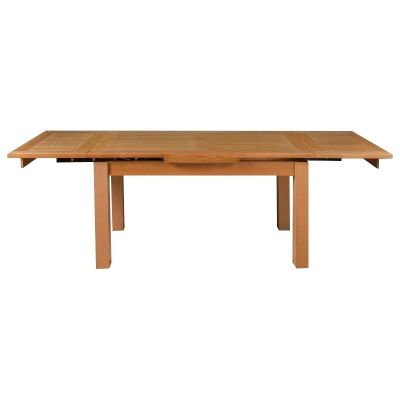 Moselia Tasmanian Oak Timber Extensible Dining Table, 200-300cm, Wheat