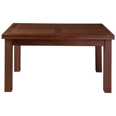 Moselia II Tasmanian Oak Timber Ends Extension Dining Table, 150-250cm, Old English Oak