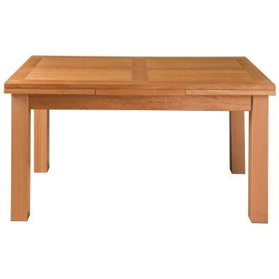 Moselia II Tasmanian Oak Timber Ends Extension Dining Table, 200-300cm, Wheat