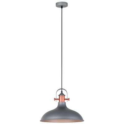 Narvik Iron Pendant Light, Matt Grey