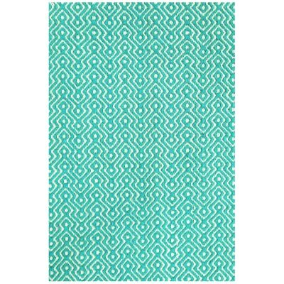 Natura Lutz Hand Woven Cotton Rug, 170x120cm, Turquoise