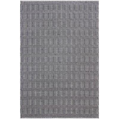 Natura Ariana Hand Woven Cotton Rug, 170x120cm, Black