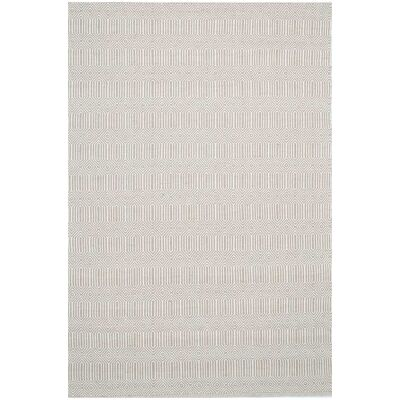 Natura Ariana Hand Woven Cotton Rug, 170x120cm, Limestone
