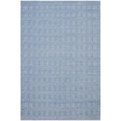 Natura Ariana Hand Woven Cotton Rug, 170x120cm, Marine
