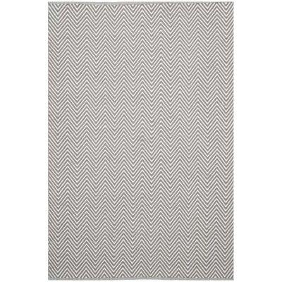 Natura Linzi Hand Woven Cotton Rug, 170x120cm, Chevron Fog