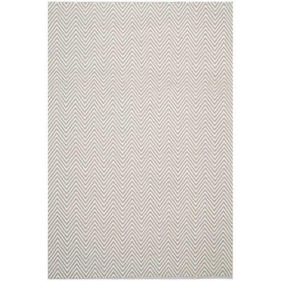 Natura Linzi Hand Woven Cotton Rug, 170x120cm, Chevron Cream