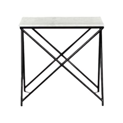 Celle Marble & Metal Lamp Table