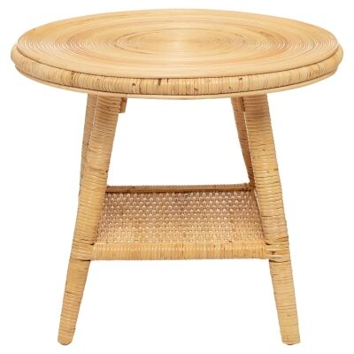 Newport Rattan Round Coffee Table, 58cm