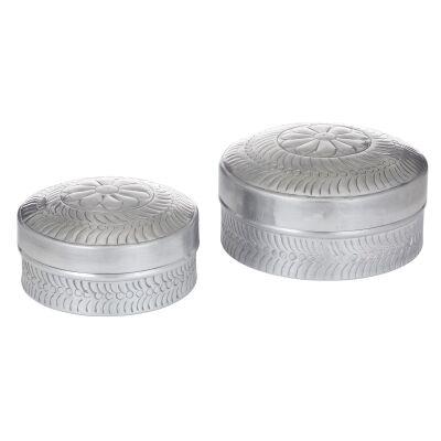 Chara 2 Piece Aluminium Canister Set