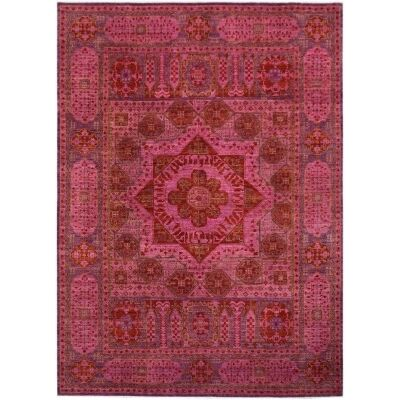 One of A Kind Aayan Hand Knotted Wool Afghan Mamluk Rug, 341x253cm