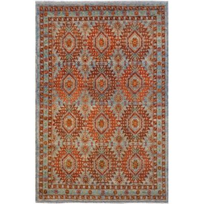 One of A Kind Rahma Hand Knotted Wool Afghan Kilim Rug, 292x198cm