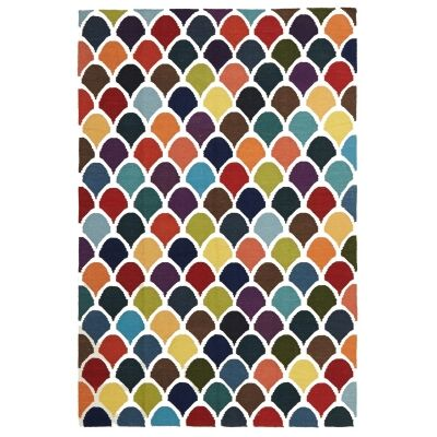 Nomad Scales Flat Woven Wool Rug, 225x155cm, Multi