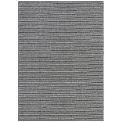 Norge Flatwoven Wool & Viscose Rug, 120x75cm, Grey