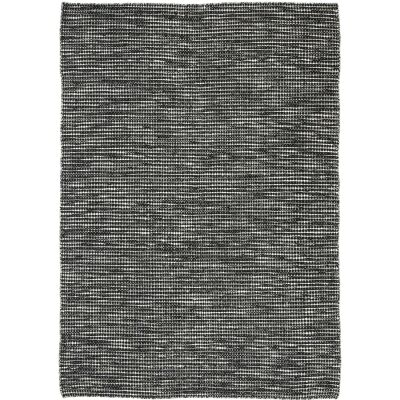 Scandi Reversible Wool Rug, 160x230cm, Black / White