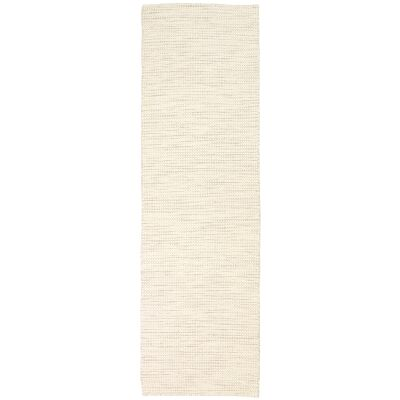 Scandi Reversible Wool Runner Rug, 80x400cm, Beige