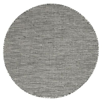 Scandi Reversible Wool Round Rug, 150cm, Charcoal