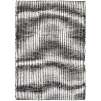 Scandi Reversible Wool Rug, 160x230cm, Charcoal