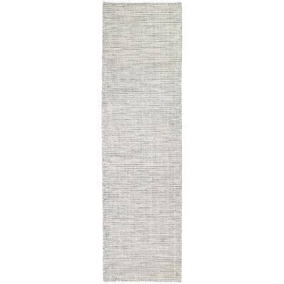 Scandi Reversible Wool Runner Rug, 80x400cm, Grey