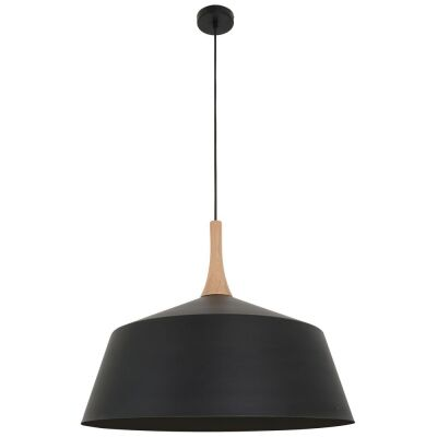 Nordic Steel Pendant Light, Large, Black