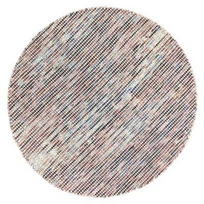 Scandi Reversible Wool Round Rug, 200cm, Multi