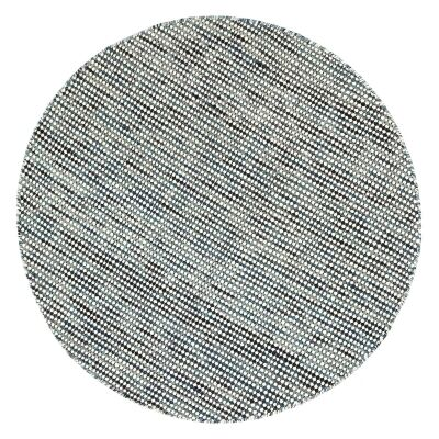 Scandi Reversible Wool Round Rug, 150cm, Teal